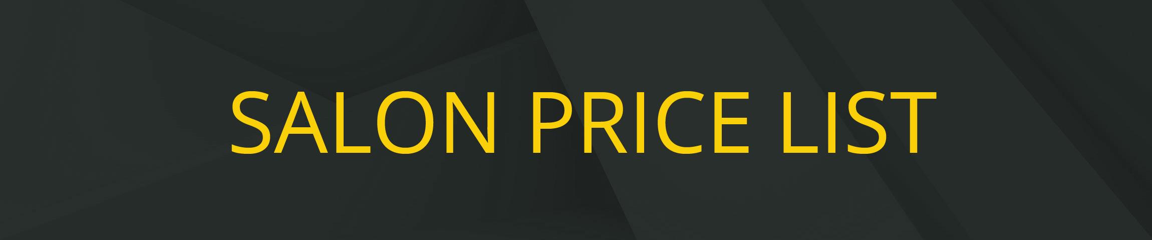 e-hairdressing pricelist