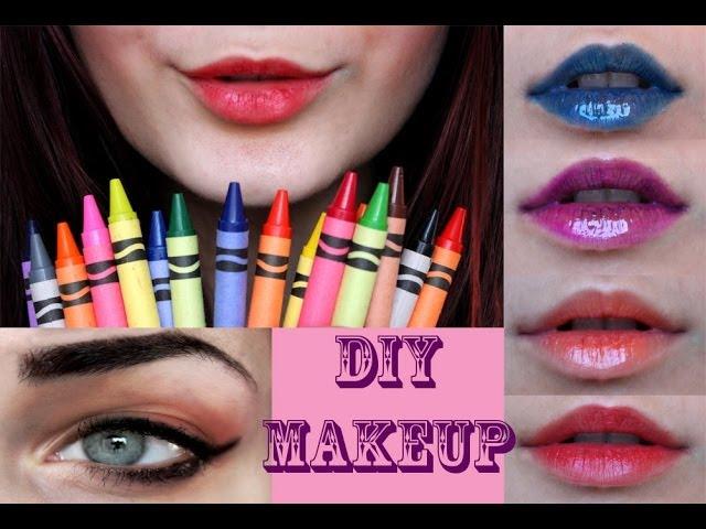 diy makeup crayola crayon lipsticks gel eyeliner e hairdressing